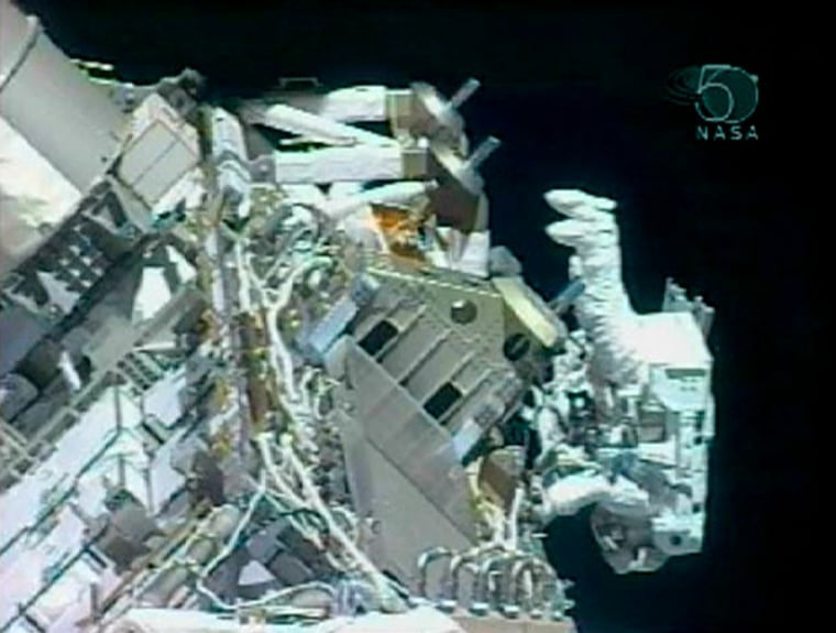 Image: Spacewalker Dan Tani during a spacewalk