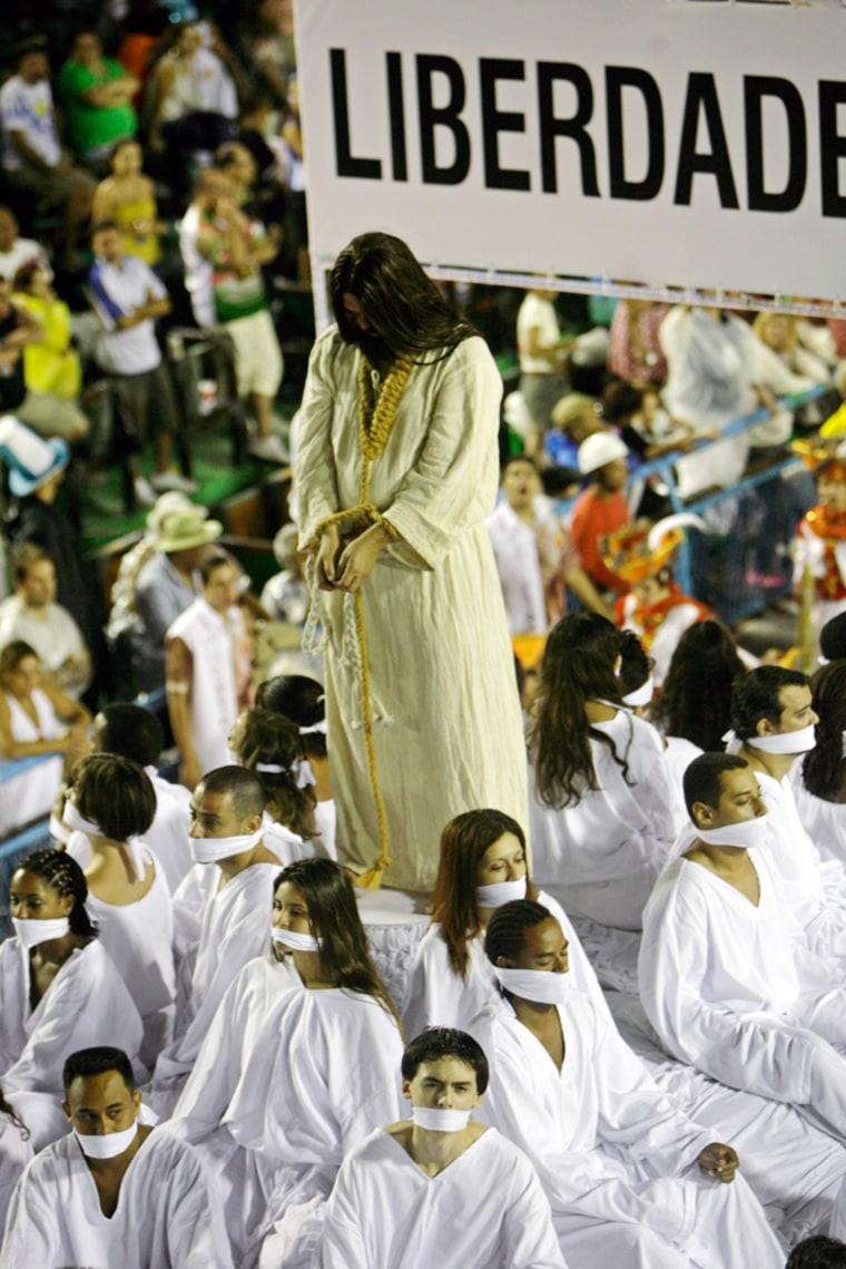 Image: Carnival of Rio de Janeiro at the Sambodromo