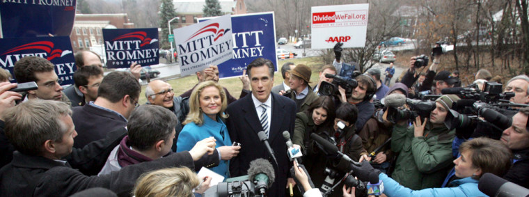 Image: Mitt and Ann Romney