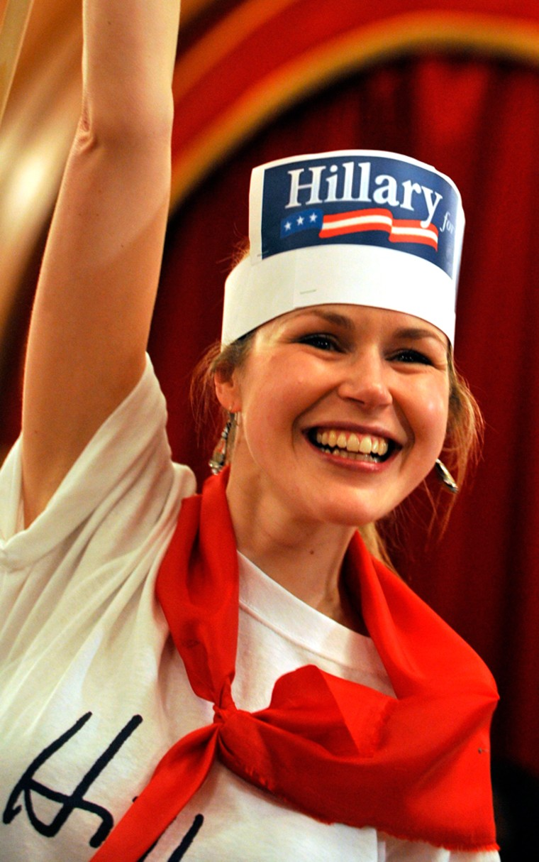 Image: A Hillary Clinton supporter attends a U.S. Global Primary voting station iin London