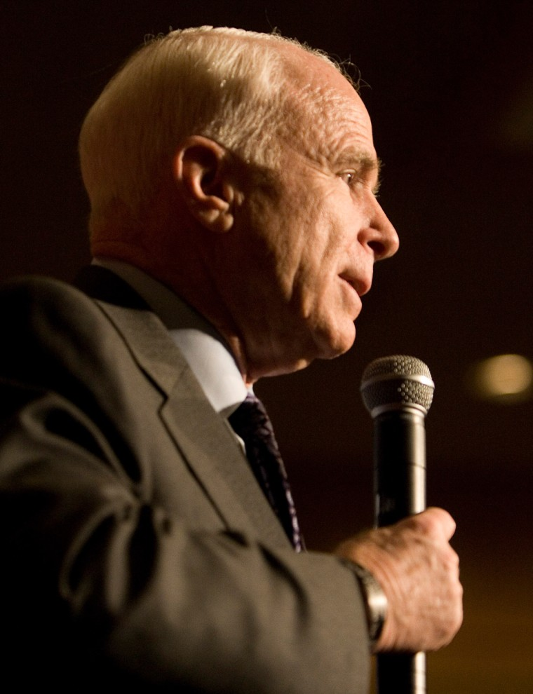 Image: John McCain campaigns in Seattle