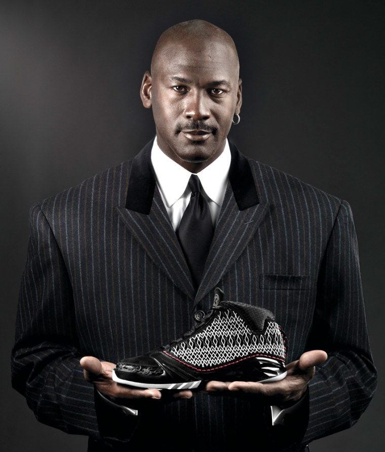 Image: Michael Jordan poses with the new Air Jordan XX3