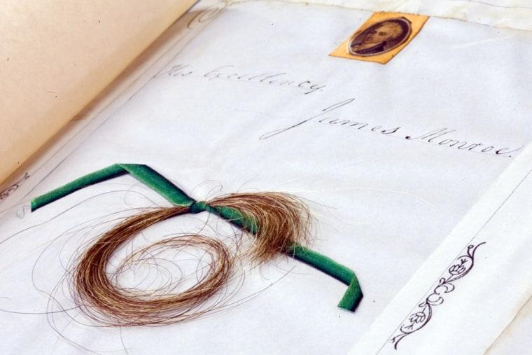 Image: A lock of James Monroe's hair.