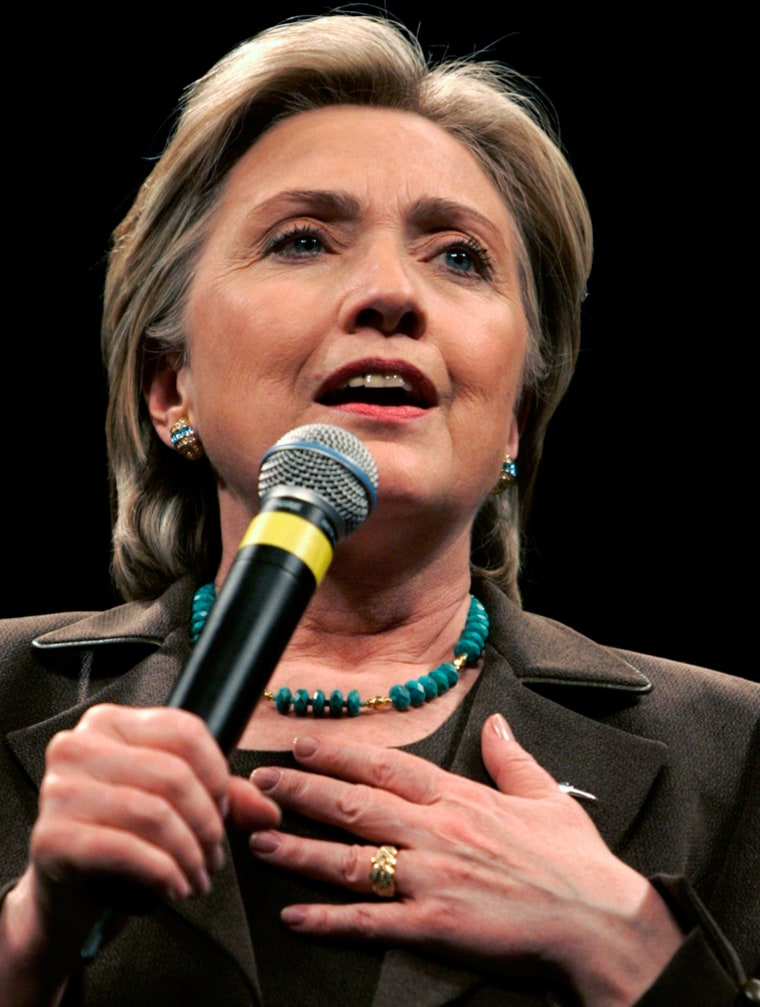 Image: US Democratic presidential candidate Senator Hillary Clinton.