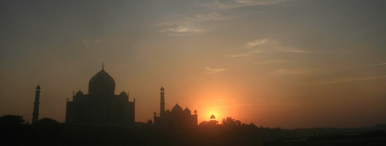Image: Taj Mahal is seen during sunset in Agra