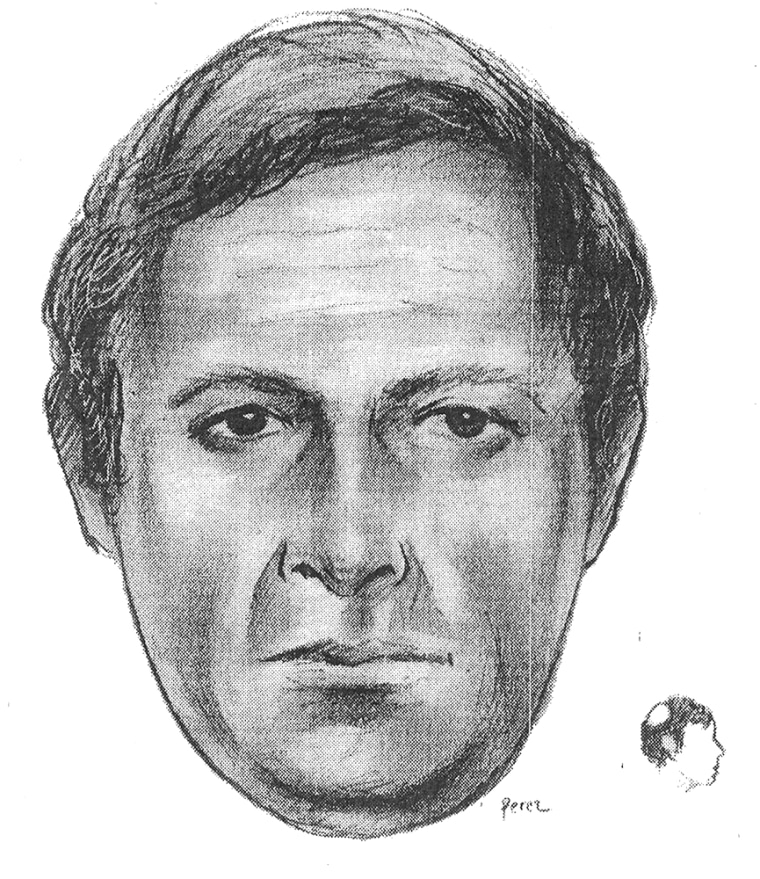 This artist's sketch provided by the New York Police Department shows a man suspected of murdering psychologist Kathryn Faughey and seriously injuring another therapist, Dr. Kent Shinbach.