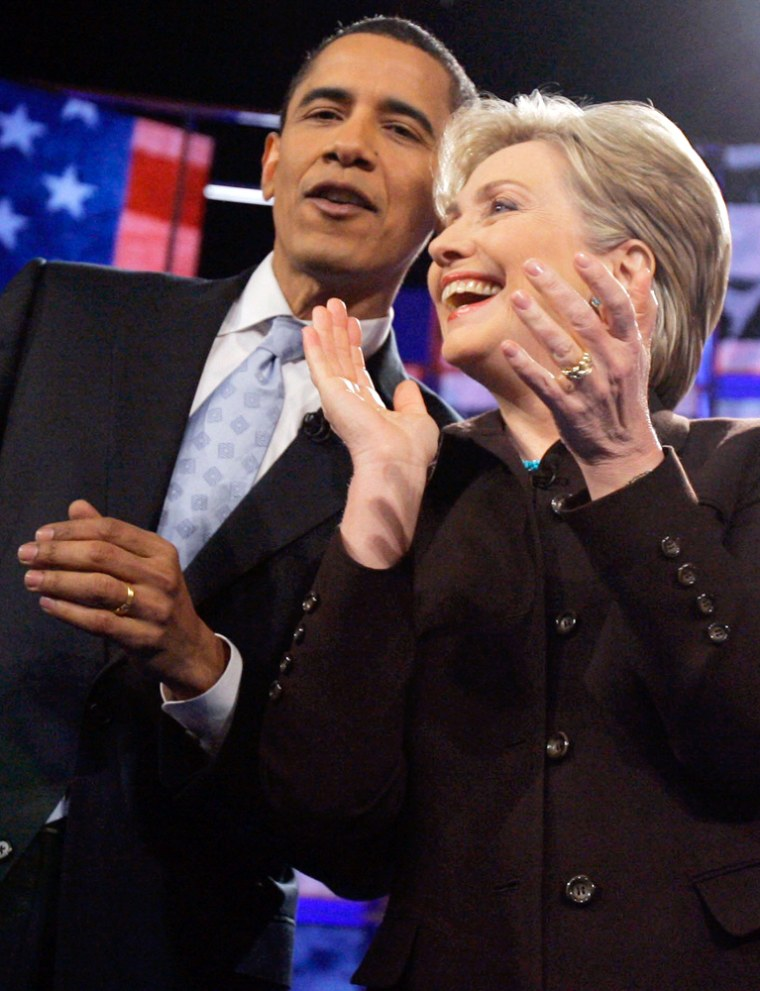 Image: Hillary Rodham Clinton, Barack Obama,