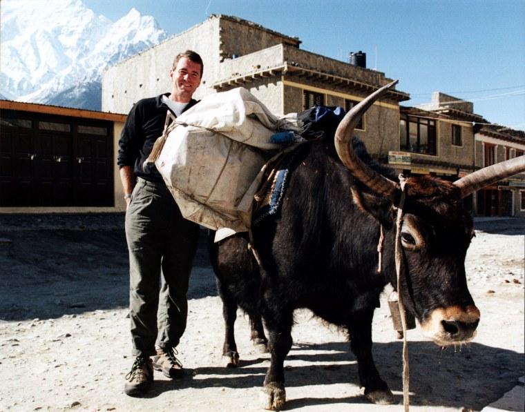 Image: Jomsom, Annapurna mountain range, Nepal, April 2001
