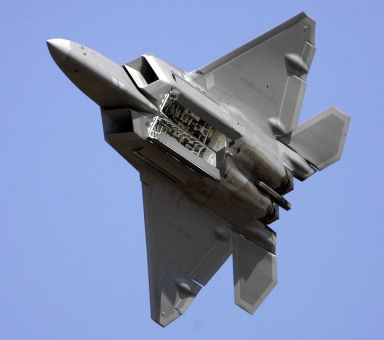 Image: F-22 Raptor fighter jet