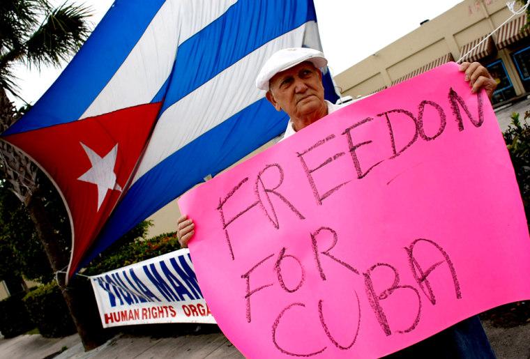 Miami's Cuban Area Awakes To News Of Castro's Resignation
