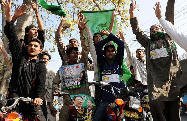 Image: Supporters of the Pakistan Muslim League Nawaz (PMLN)