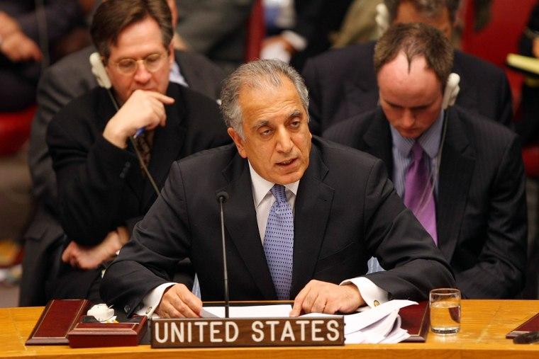 Image: U. N. Ambassador for the U.S., Zalmay Khalilzad