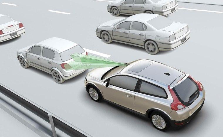 Image: Volvo collision mitigation system