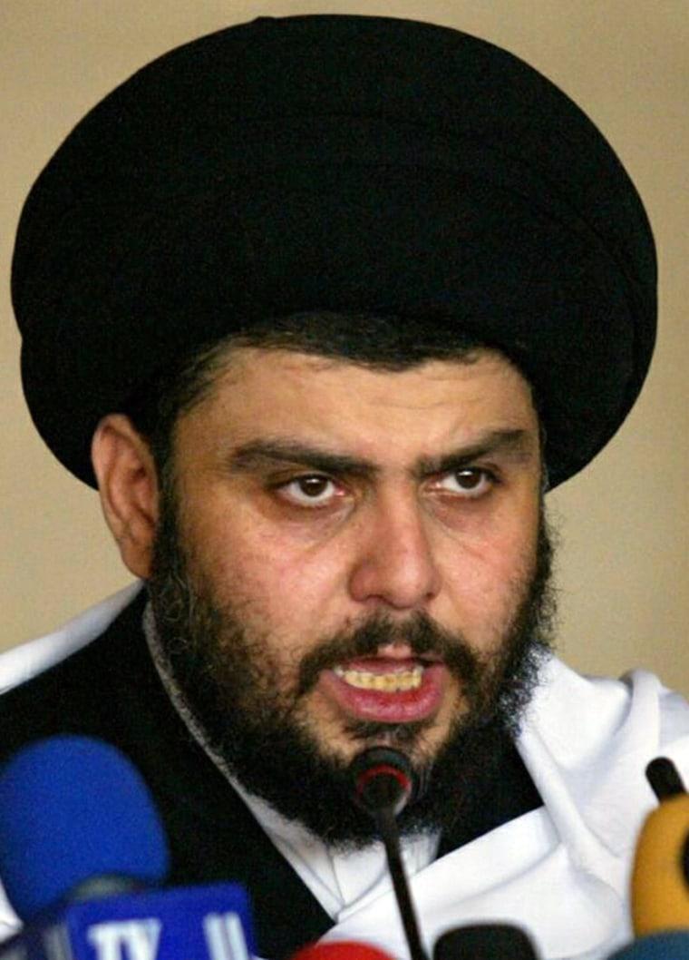 Image: Radical Iraqi Shiite cleric Moqtada al-Sadr