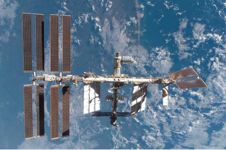 Image: International Space Station as seen from the shuttle Atlantis