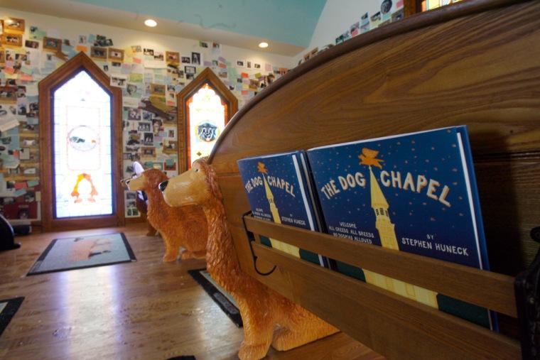 Image: Stephen Huneck's dog chapel.