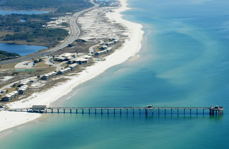 Image:  An aerial view of the Gulf Shores State.