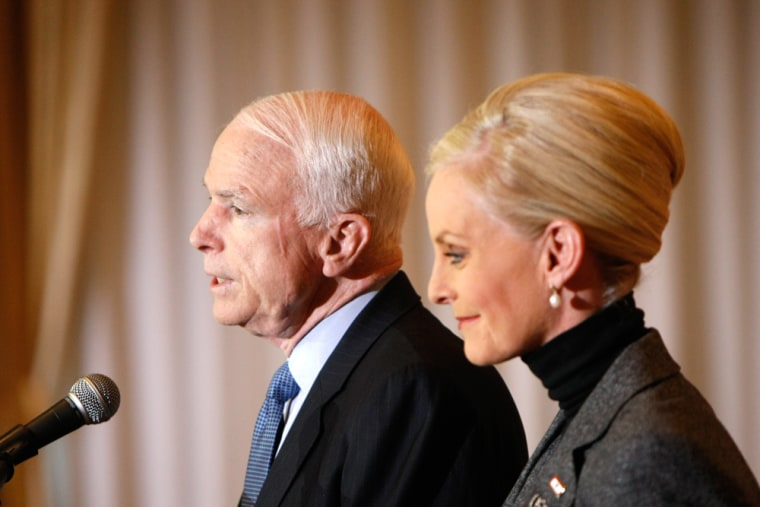 Image: John McCain and Cindy McCain