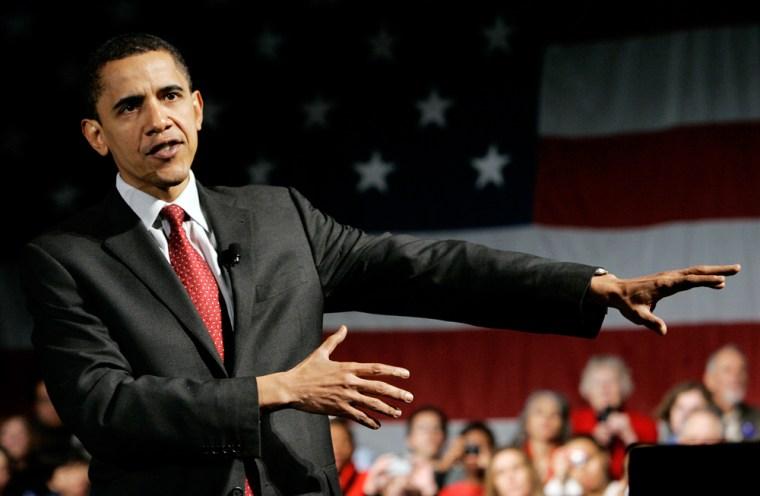 Image: Democratic presidential hopeful, Sen. Barack Obama