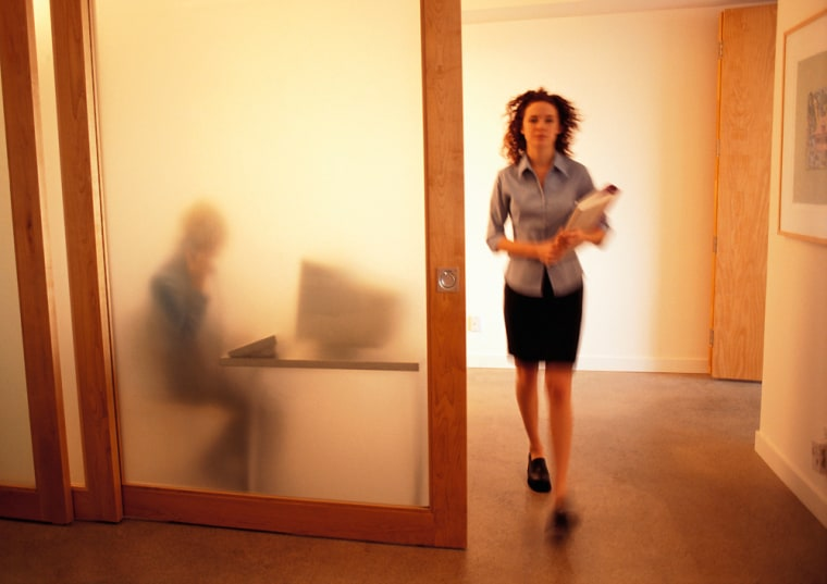 Image: Young Woman Leaving Supervisor's Office