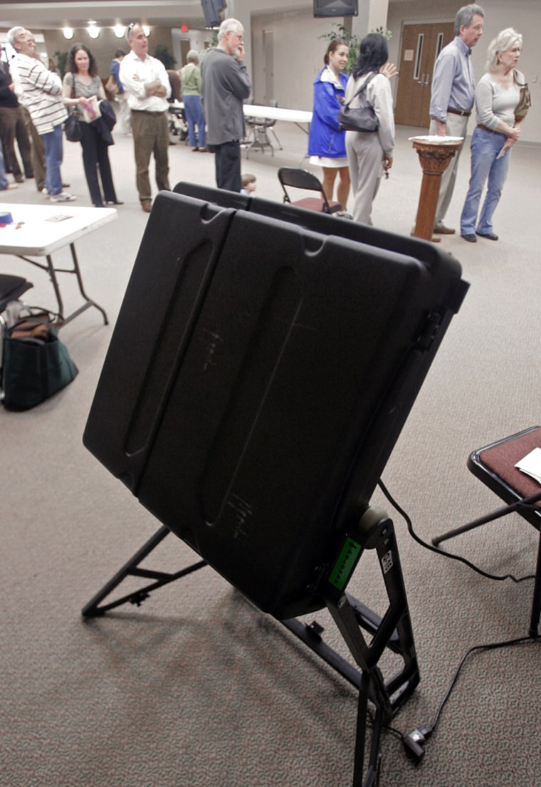 Image: voting machine