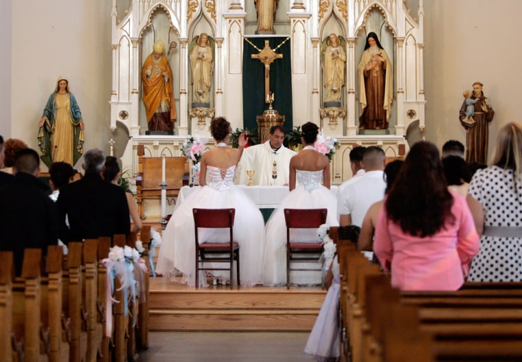 Image: People in church