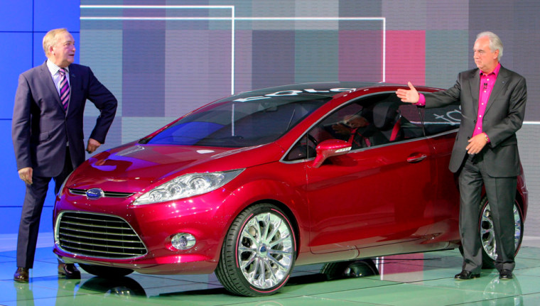 Image: CEO John Fleming and Designer Martin Smith present the new Ford 'Verve Concept'