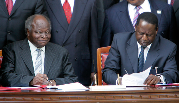 Image: Mwai Kibaki and Raila Odinga