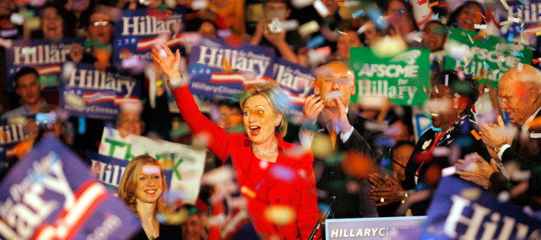 Image: Hillary Clinton Holds Primary Night Event In Columbus