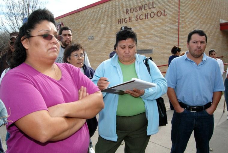 Image: parent protest deportation