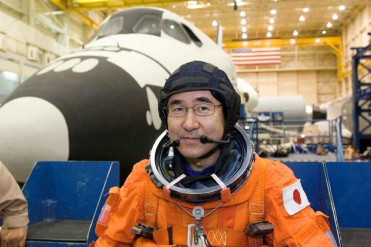 Image: Japanese astronaut Takao Doi