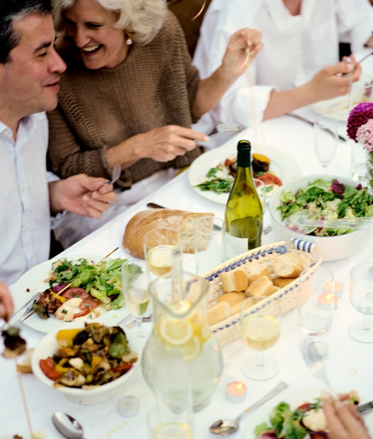 Image: Friends and family enjoying meal