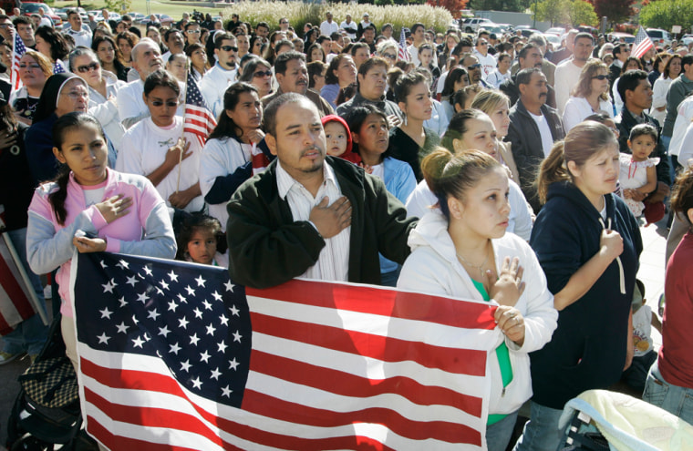 Image: Protest against immigration laws in Okla.