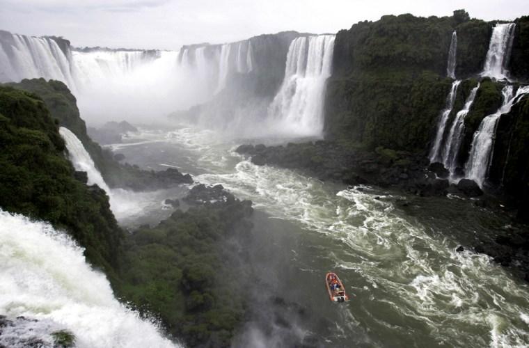 Image:  Devil's Throat of the Iguazu Falls