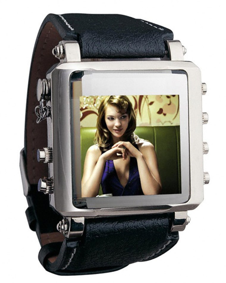 Image: Metallic Video Watch with OLED Screen
