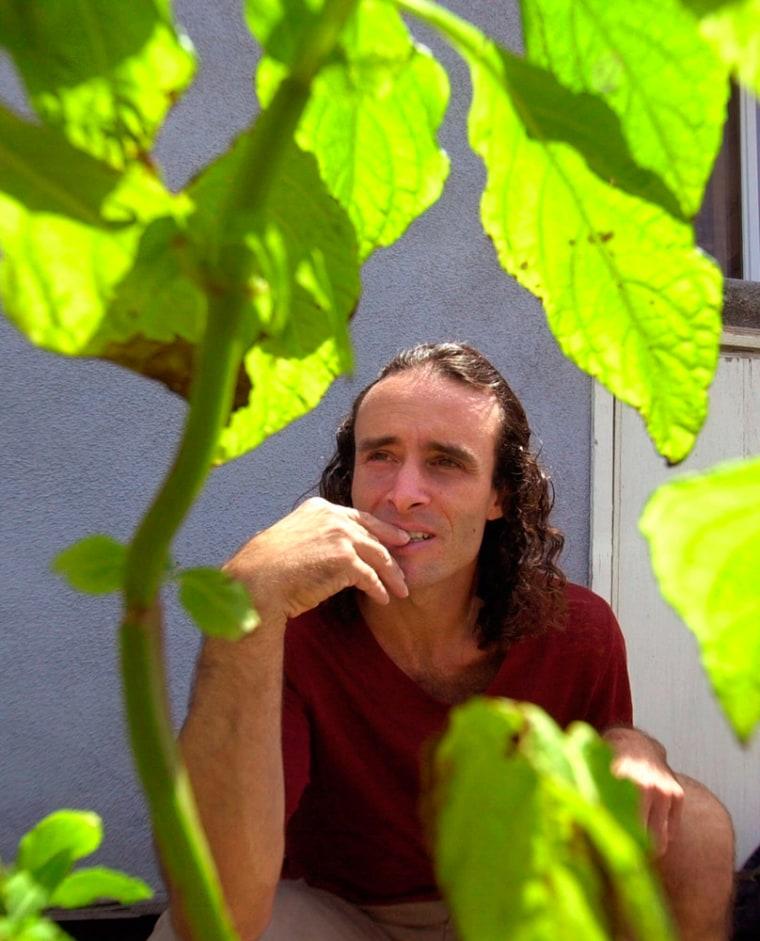 Image: Daniel Siebert, an amateur botanist, poses with salvia divinorum plants.