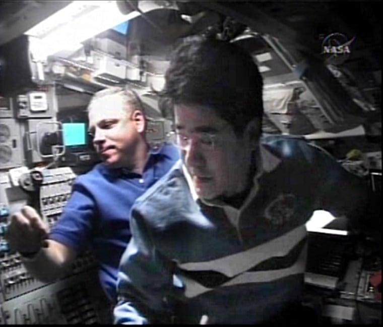 Image: Astronauts on Endeavour