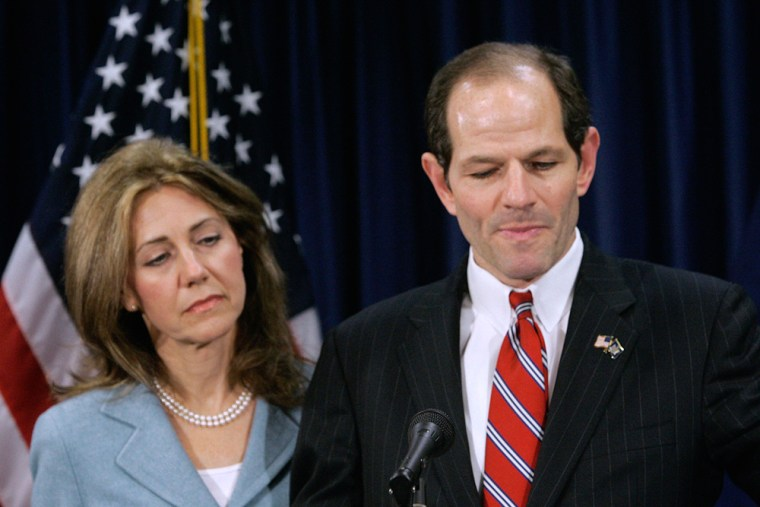 Image: Gov. Eliot Spitzer and wife Silda