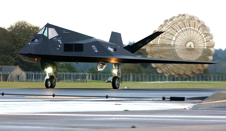 Image: Wing F-117A Nighthawk stealth fighter