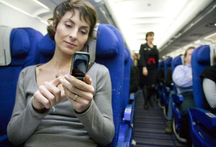 Image: in flight mobile service