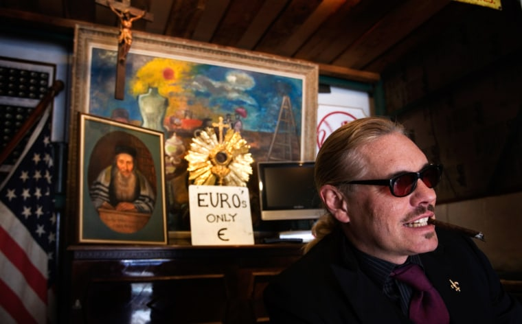 William Leroy, owner of Billy's Antiques & Props in New York, prefers payment in euros so he can stockpile the currency for his annual buying trip to Paris.