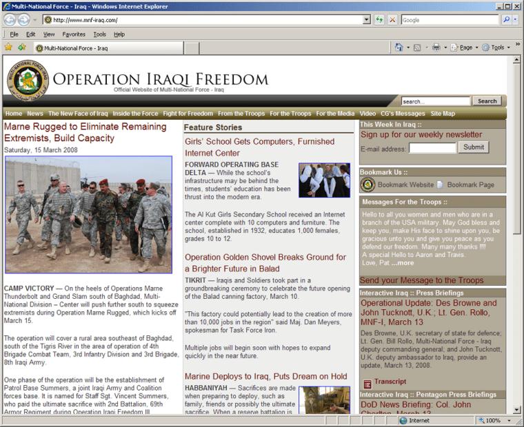 Image: Operation Iraqi Freedom website