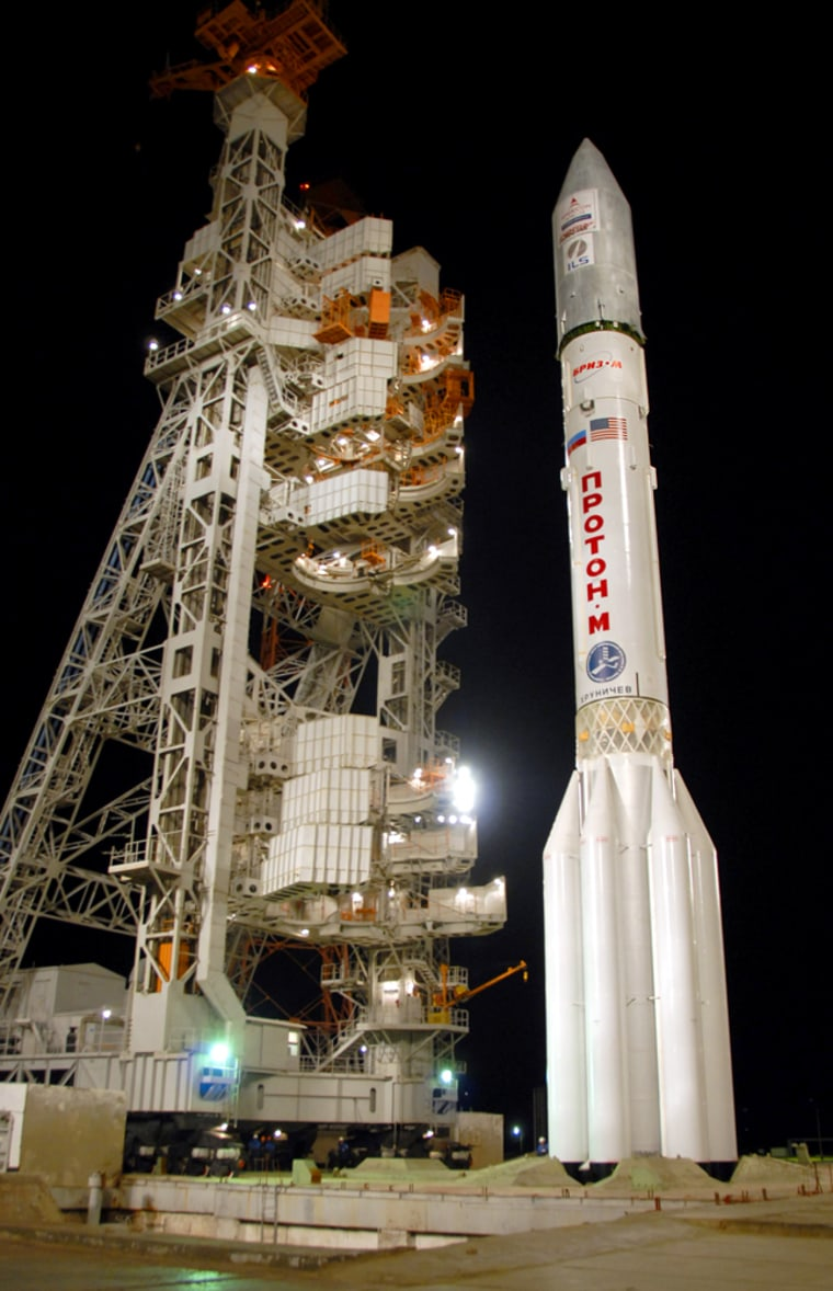Image: Russian Proton-M booster with U.S. built AMS-14 satellite
