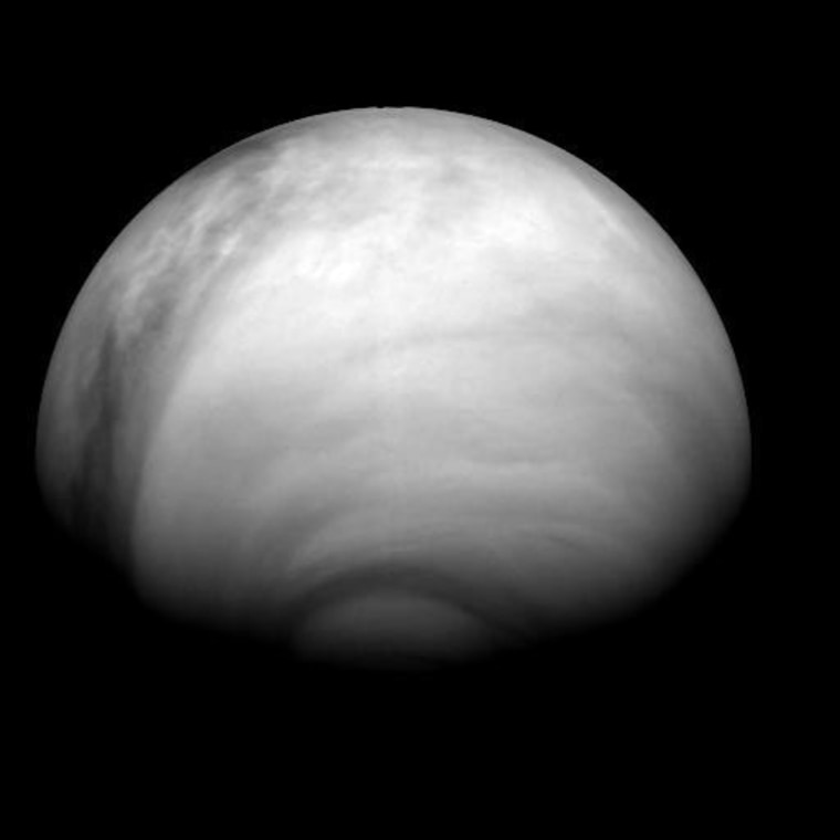 Image: Venus's atmosphere, taken by the Venus Monitoring Camera during Venus Express orbit
