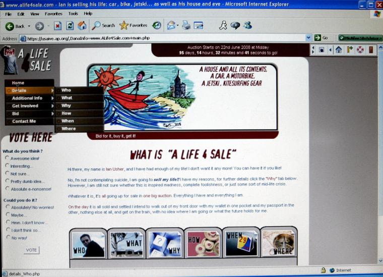 Image: Internet page adveristing online sale.