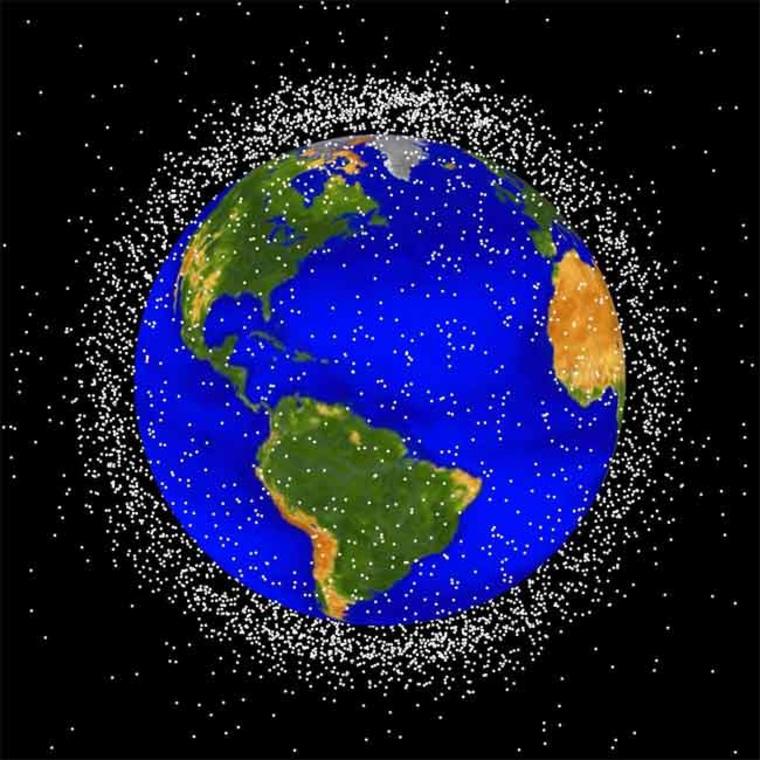 Image: Objects in low Earth orbit