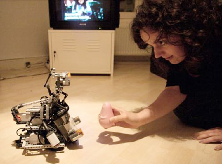 Image: Phobot the cowardly robot.