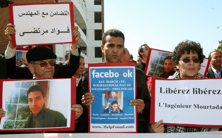 Image: Moroccan engineers and human-rights activist.