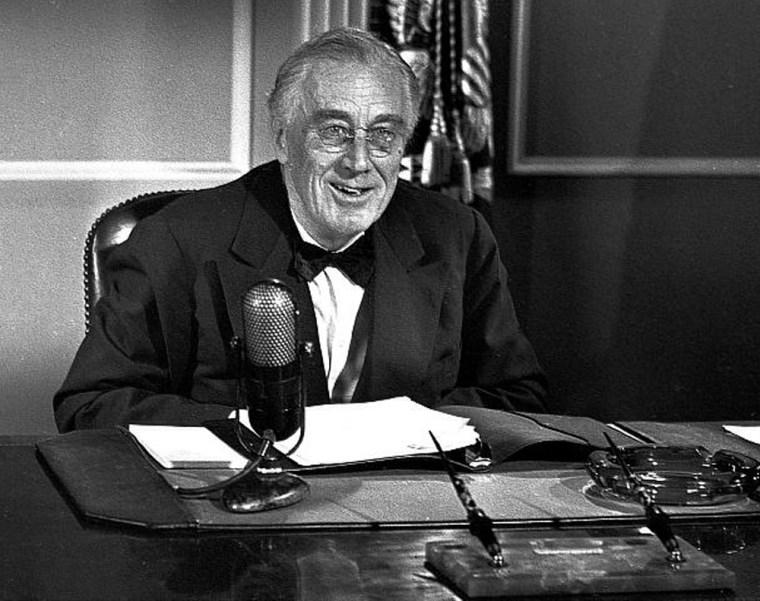 Image: Franklin Delano Roosevelt Gives Radio Address, 1944