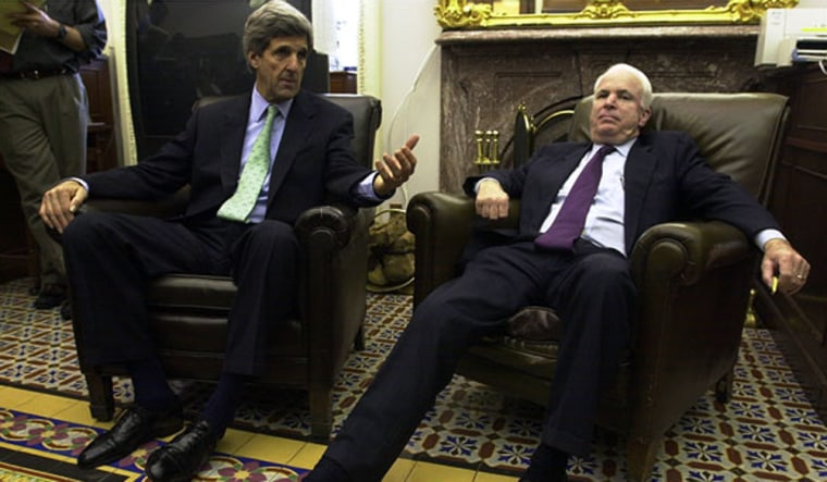 Image: John Kerry and John McCain.